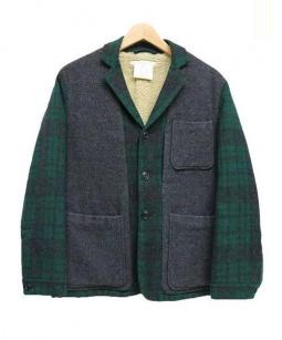 YAECA(ヤエカ)の古着「裏ボアジャケット」|グレー×グリーン