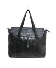 robita tier(ロビタ ティア)の古着「レザートートバッグ」 ブラック