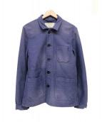 MAISON KITSUNE(メゾンキツネ)の古着「ダメージ加工カバーオール」|パープル