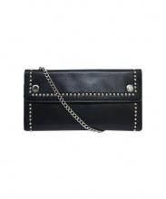 J&M Davidson(ジェイアンドエムデビットソン)の古着「チェーンショルダースタッズ長財布」|ブラック