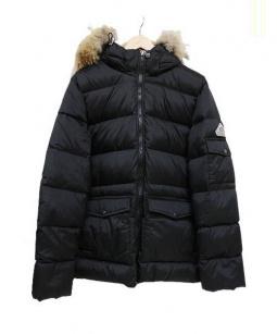 Pyrenex(ピレネックス)の古着「ファー付ダウンジャケット」 ブラック