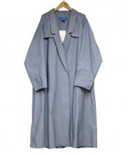 cuff(カフ)の古着「ダブルロングコート」|ブルー