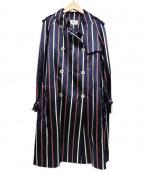 49AV junko shimada(ジュンコシマダ)の古着「トレンチコート」|ネイビー×レッド
