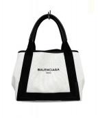 BALENCIAGA(バレンシアガ)の古着「ハンドバッグ」|ホワイト×ブラック