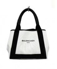 BALENCIAGA(バレンシアガ)の古着「ハンドバッグ」 ホワイト×ブラック