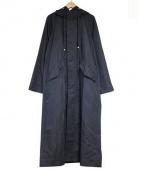 TIARA(ティアラ)の古着「キュプラロングナイロンコート」 ブラック