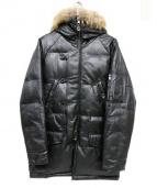 liugoo leathers(リューグーレザーズ)の古着「ファー付ダウンコート」 ブラック