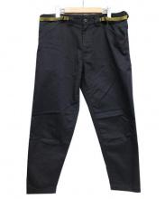 GANRYU(ガンリュウ)の古着「エステルコットンテーパードパンツ」|ブラック