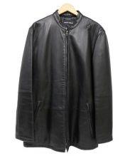 GIORGIO ARMANI(ジョルジオアルマーニ)の古着「ラムレザージャケット」|ブラック