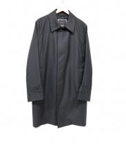 DURBAN(ダーバン)の古着「ピンヘッドステンカラーコート」|ブラック