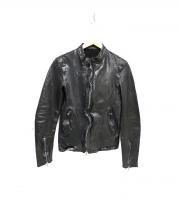 ISAMU KATAYAMA BACKLASH(イサムカタヤマ・バックラッシュ)の古着「レザージャケット」|ブラック
