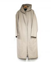 iCB(アイシービー)の古着「カシミヤ混フーデッドウールコート」|ベージュ