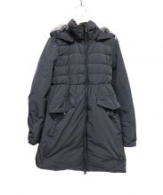 Woolrich(ウールリッチ)の古着「ラビットファー付ダウンコート」|ブラック