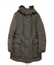 MONCLER(モンクレール)の古着「ラビットファー付ダウンコート」|ブラウン