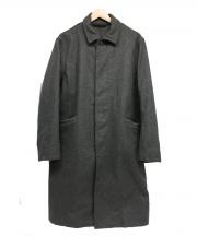 CASEY CASEY(ケイシー ケイシー)の古着「ウールシングルコート」|グレー