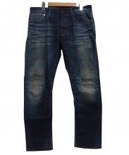 DENHAM(デンハム)の古着「ヴィンテージ加工デニムパンツ」|インディゴ