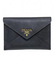 PRADA(プラダ)の古着「エンベロップミニ財布」|ブラック