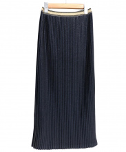 BY MALENE BIRGER(バイ マレーネ ビルガー)の古着「ラメタイトプリーツスカート」|ネイビー