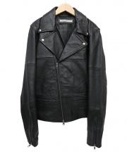 hardcover(ハードカバー)の古着「ラムレザーライダースジャケット」|ブラック