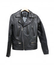 AVEC CES FRERES BY ART COMES FIRST(アヴェック セ フレール アート カムズ ファースト)の古着「SARTCORE LEATHER JACKET」|ブラック