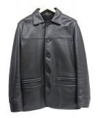 bpr BEAMS(ビーピーアールビームス)の古着「レザーボタンアップジャケット」