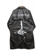 ART COMES FIRST(アートカムズファースト)の古着「BR RAIN COAT」|ブラック