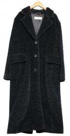 Max Mara(マックスマーラ)の古着「ボアチェスターコート」|ブラック