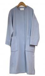 MAYSON GREY(メイソングレイ)の古着「ノーカラーコート」|ブルー
