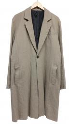 glamb(グラム)の古着「切りっ放しチェスターコート」