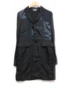 BLACK COMME des GARCONS(ブラックコムデギャルソン)の古着「パッチワークナイロンコート」|ブラック