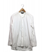 Essay(エッセイ)の古着「ステンシルバンドカラーシャツ」|ホワイト
