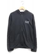 EMPORIO ARMANI EA7(エンポリオ アルマーニ イーエーセブン)の古着「CHEST LOGO PULL OVER」|ブラック