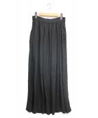 MUSE de Deuxieme Classe(ミューズ ドゥーズィエムクラス)の古着「ロングリネンスカート」|ブラック