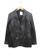 DURBAN(ダーバン)の古着「ラムレザージャケット」|ブラック