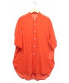 BEAUTY&YOUTH UNITED ARROWS(ビューティーアンドユース ユナイテッドアローズ)の古着「H/Sコットンシャツ」|オレンジ