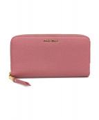 MIU MIU(ミュウミュウ)の古着「ラウンドファスナー長財布」 ピンク