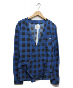 TAKAHIROMIYASHITA TheSoloIst.(タカヒロミヤシタザソロイスト)の古着「カシュクールシャツ」|ブルー