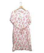 Bagutta(バグッタ)の古着「前開きリネンワンピース」|ピンク