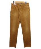 INCOTEX RED(インコテックスレッド)の古着「ウォッシュ加工コットンパンツ」 ブラウン