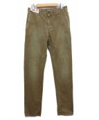 INCOTEX RED(インコテックスレッド)の古着「ウォッシュ加工コットンパンツ」 カーキ