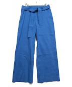 theory luxe(セオリーリュクス)の古着「ベルト付パンツ」|ブルー