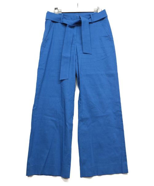 theory luxe(セオリーリュクス)theory luxe (セオリーリュクス) ベルト付パンツ ブルー サイズ:S リネン混の古着・服飾アイテム