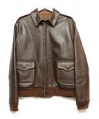 EASTMAN LEATHER CLOTHING(イーストマン レザー クロージング)の古着「A-2フライトジャケット」|ブラウン