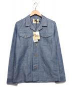 Traditional Weatherwear(トラディショナル ウェザーウェア)の古着「サファリシャツ」|スカイブルー