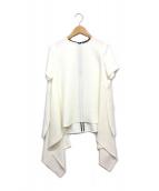 YOKO CHAN(ヨーコチャン)の古着「デザインヘムS/Sブラウス」|ホワイト
