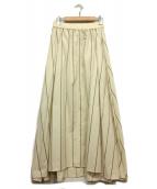 MACPHEE(マカフィ)の古着「リネン混ロングスカート」|アイボリー