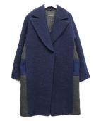 CEDRIC CHARLIER(セドリック シャルリエ)の古着「ビッグカラーコート」|ネイビー