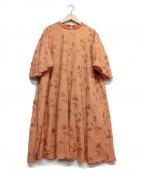 latelier du savon(アトリエドゥサボン)の古着「刺繍ワンピース」|オレンジ