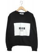 MSGM(エムエスジーエム)の古着「ボックスクルーネックスウェット」|ブラック