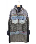 Desigual(デシグアル)の古着「パッチワークコート」|マルチカラー